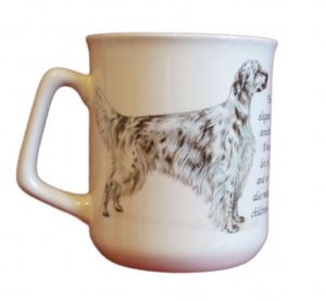 Cana ceramica The English Setter - E06-1140