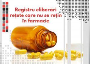 Registru eliberari retete care nu se retin in farmacii