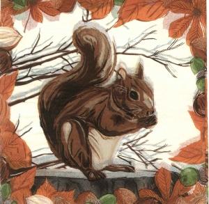 Șervețel veveriță