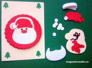 Felicitare Moş Crăciun - set confecţionare 20 bucăţi
