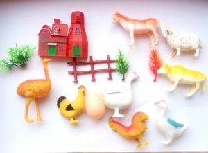 Jucării plastic - animale domestice