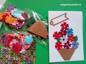 Flori pentru mama - set confecţionare 22 de felicitări - varianta cu 2 buc. AD011