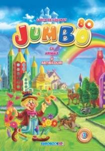 JUMBO nr. 3 - Carte de colorat cu ANIMALE