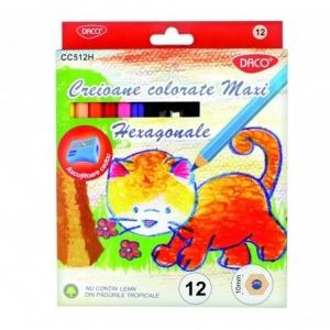 Creion color 12 cul MAXI hexagonal