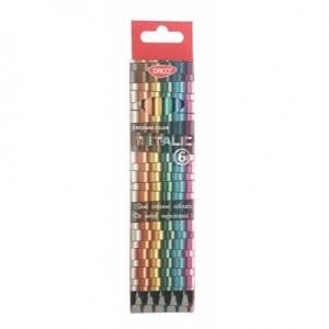 Creion color 6 culori metalic DACO