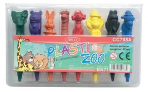 Creion color 8 culori Plasti Zoo DACO