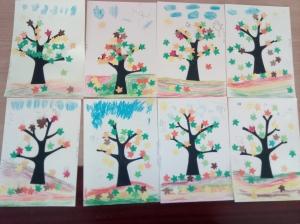 Frunze stejar toamnă 2,5 cm