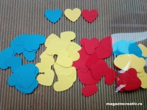 Inimi tricolor 2,5 cm