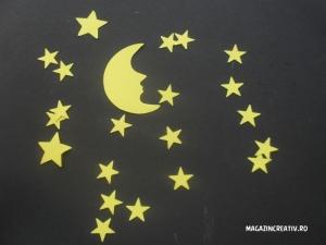 Luna și stelele - set creativ