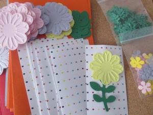 Set confecționare 20 felicitări cu floare