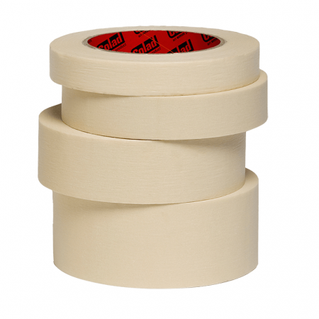 Banda mascare hartie Colad 9075xx Classic, rezista pana la 60 °C, culoare crem, lungime 50 metri0