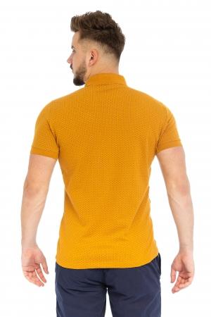 Tricou Polo Galben Mustariu
