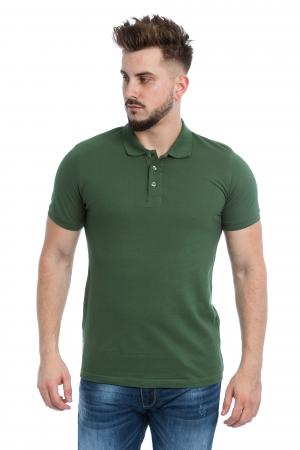 Tricou Polo Verde Inchis