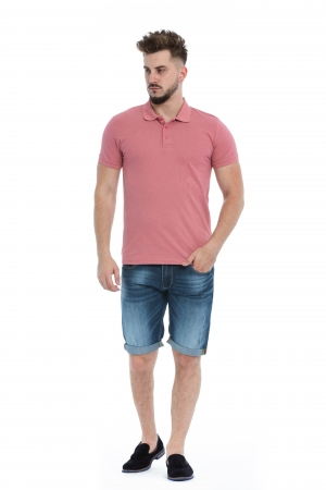 Tricou Polo Roz