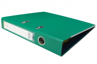 Biblioraft plastifiat 5cm Verde inchis DP Collection