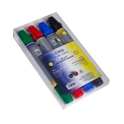 Marker Whiteboard cu doua capete 4buc/set DP Collection