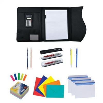Pachet WOW profesional DP Collection MAPA PORTFOLIO GALAXY CU MAGNET, CALCULATOR SI BLOCK NOTES