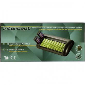 Incarcator ENIX Intercept 12 canale cu descarcare CEH3021 pentru acumulatori AA, AAA si 9V0