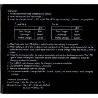 Incarcator ENIX Intercept 12 canale cu descarcare CEH3021 pentru acumulatori AA, AAA si 9V2