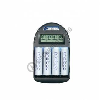 Set incarcator LaCrosse RS250 cu 4 acumulatori AAA R3 Eneloop 800mAh0