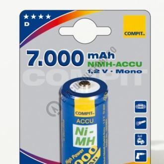 Acumulator Compit D, Mono, R20, NiMH, 7000mAh, seria Profi1