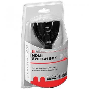 Comutator automat HDMI 3 IN / 1 OUT Goobay cod 608191