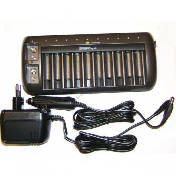 Incarcator ENIX Intercept 12 canale cu descarcare CEH3021 pentru acumulatori AA, AAA si 9V3