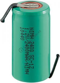 Acumulator Sub-C Goobay 2400 mAh 1.2V Ni-Mh cu lamele lipire cod 233686