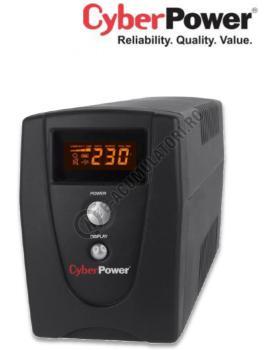 UPS Cyber Power VALUE1000ELCD 1000VA 550W AVR, LCD Display, 2 x Schuko outputs, USB & Serial port0