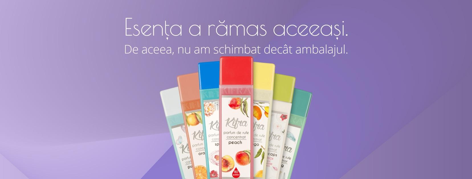 Parfumurile de rufe Kifra au acum un ambalaj mai practic, cu capac, care previne accesul copiilor.