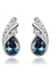 Cercei ANGELIC blueink cu cristale Swarovski