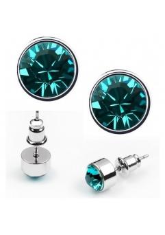 Cercei BRIGHT turquoise  cu cristale swarovski