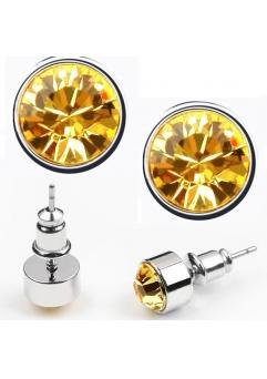 Cercei BRIGHT yellow cu cristale swarovski