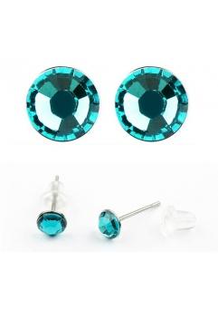 Cercei LITTLE SHINE turquoise  cu cristale swarovski
