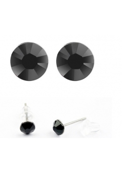 Cercei LITTLE SHINE black cu cristale swarovski