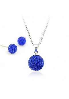 Set bijuteriii SHAMBALA blue-capri cu cristale swarovski