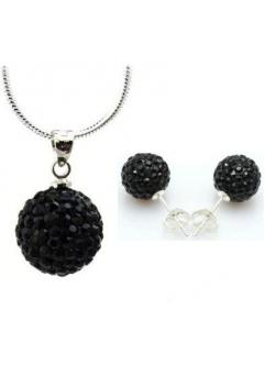 Set bijuteriii SHAMBALA negru  cu cristale