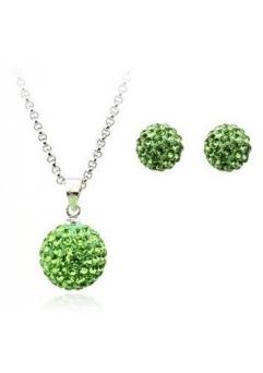 Set bijuteriii SHAMBALA green-verde cu cristale