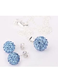 Set bijuteriii SHAMBALA lightblue cu cristale