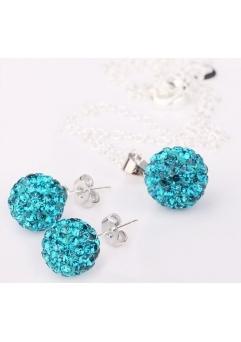 Set bijuteriii SHAMBALA bleo topaz-turquoise cu cristale
