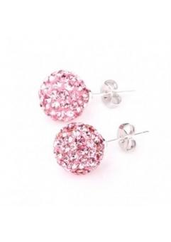 Cercei SHAMBALA rose cu cristale swarovski