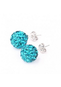 Cercei SHAMBALA turquoise cu cristale