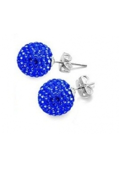 Cercei SHAMBALA blue cu cristale