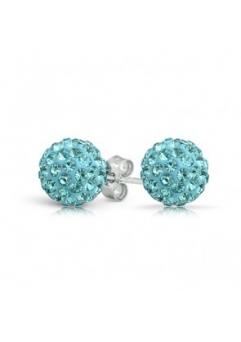 Cercei SHAMBALA aquamarine cu cristale swarovski