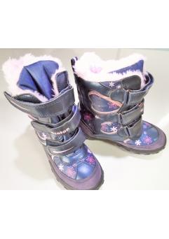 Cizmulite GIOLAN de iarna pentru fete culoare NAVY / PINK marimi 25-29