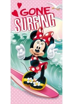 Prosop de plaja Disney Minnie Mouse Surfing 100% bumbac 70x140 cm