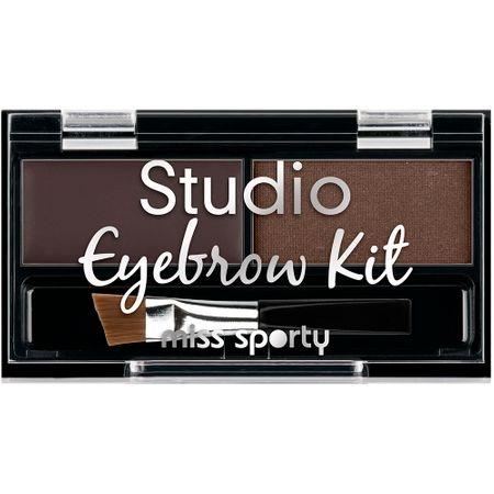 Paleta de farduri pentru sprancene Miss Sporty Studio Eyebrow Brown, 2.4 g