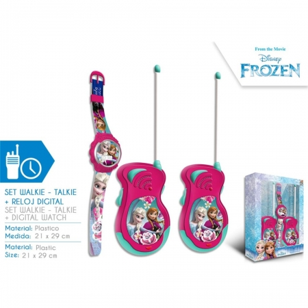 Set walkie - talkie Frozen Disney cu ceas digital