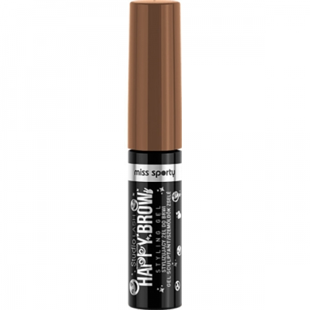 Gel pentru Sprancene MISS SPORTY Studio Lash Happy Brow, 002 Happy Brown, 5ml