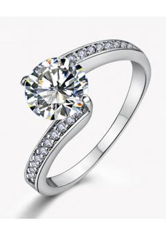 Inel Simple is the best diametru 16 cm cu cristale Swarovski placat cu aur 18k